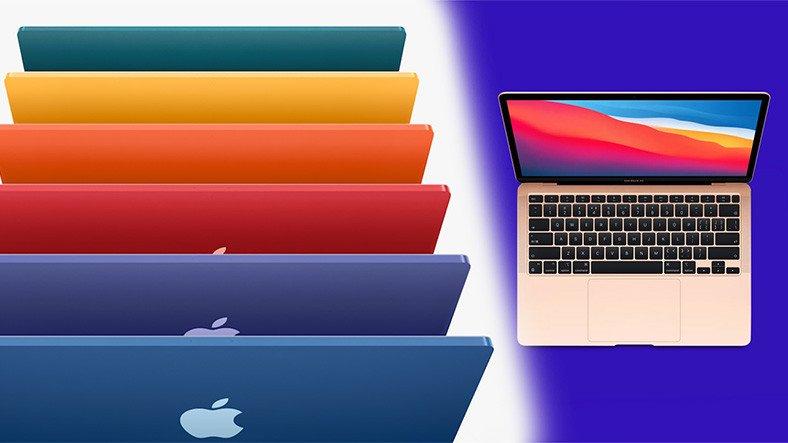 farkli renk secenekleriyle yeni macbook air yolda