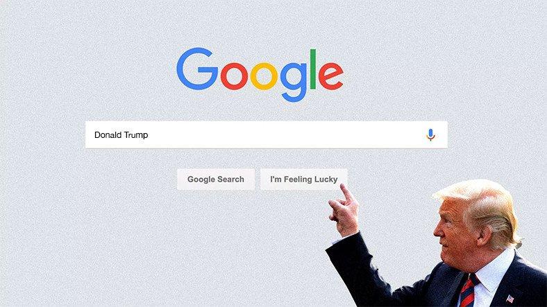 Google Negatif Trump Haberlerini Öne Çıkarmış