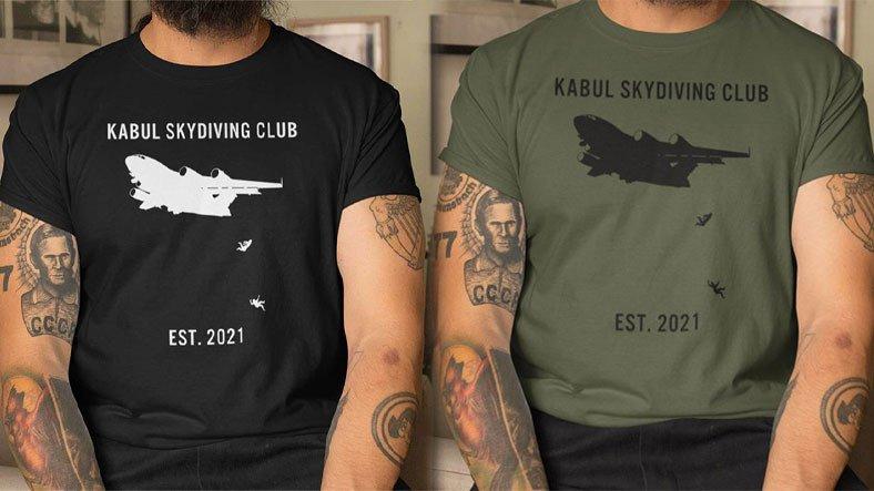 Kabil'de İnsanların Uçaktan Düştüğü Anlar Tişörte Basıldı