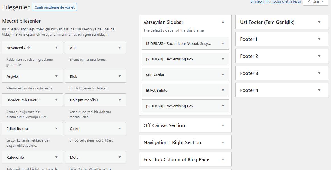 WordPress Klasik Bileşenlere Nasıl Geçilir?